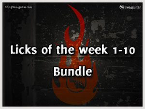 Download all Licks of the Week 1-10 for Free