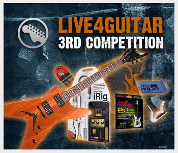 3rd Live4guitar competition - Closed