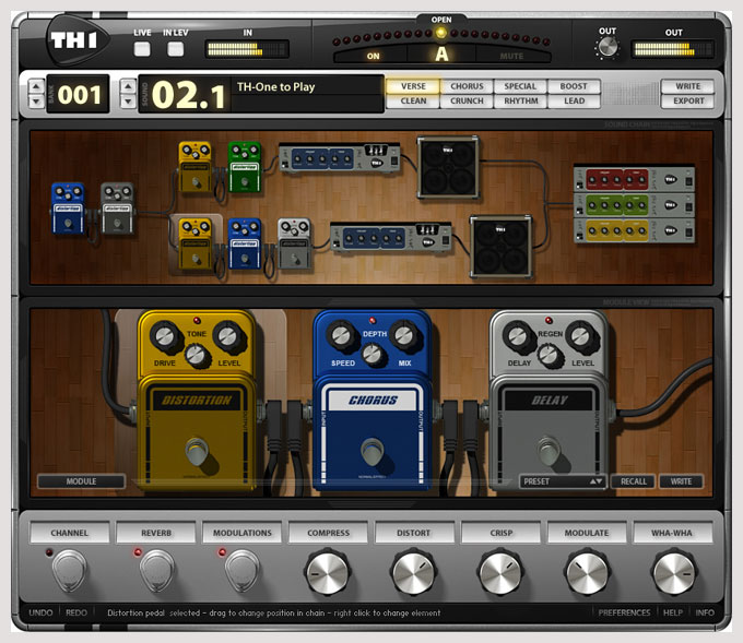 th1 guitar amp simulator