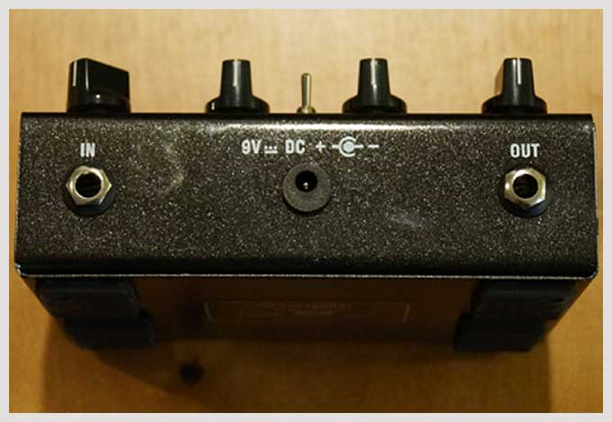 live4guitar overdrive pedal - back