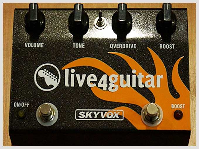 live4guitar overdrive pedal - front
